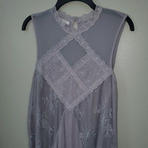 Maurices Dusty Purple Lace Tank